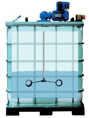 Containerrührwerk auf IBC-Container